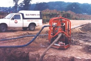 Then: Helping contractors manage water on site was a key driver. 70th Annivesary.