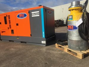 Today: Multiple power generators alongside chillers and AHUs at an exhibition centre.